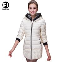 Fancyinn New 2014 Fashion Ladies Long Design Winter Cotton-padded Down Jacket Women Slim Solid Zipper Outerwear  Down Jacket