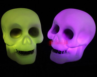 5pcs/wholesale skull section seven color night lighting creative halloween day decoration baby children birthday gift YD139