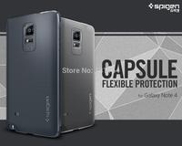 Original Spigen Galaxy Note 4 Case Capsule, SGP Premium Urethane Coating TPU Cell Phone Cases For Samsung Galaxy Note 4