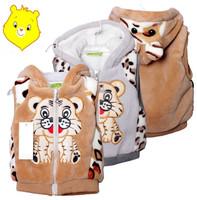 Winter kids' boy girl children outwear waistcoat kids tiger fur vest baby clothing vest think coat