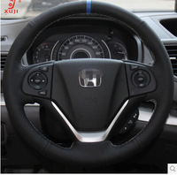 Steering Wheel Cover for Honda CRV 2012 2013 XuJi Car Special Hand-stitched Black leather Covers