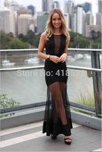 2014 el envío libre Liquidación mujer, fiesta de Clubwear Vestido largo de encaje bodycon Prom Vestidos de noche largos del verano ML(China (Mainland))