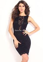 Free shipping women dress Adela Slinky Midi Dress with Cowl Back
