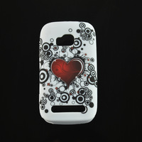 New Stylish Flower Butterfly Heart Soft TPU Phone Cover Back Case For Nokia Lumia 610 accessories