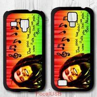 5 pcs Bob Marley Quote Protective Plastic Cover Case For Samsung Galaxy S4 mini S3 mini P696 (White: S4, Black: S3)