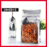 Free Shipping 100pcs/lot 10cm*20cm+5cm*200mic High Quality Eight Edge-Sealing Bag Stand Up Zipper Bags Food Packaging Bags