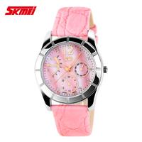Fashionable ladies watches classic ladies waterproof watches leather belt pointer quartz watch high school students