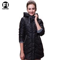 Fancyinn new 2014 Fashion Winter Down jacket women clothing coat Ladies Long Style Black Overcoat Women Hooded Down  Jacket