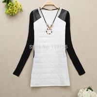New 2015 Autumn Winter Women'S Basic Shirt Long-Sleeve Round Neck T-Shirt Thermal Plus Velvet T- Shirt Female women tops