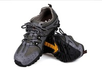 44 43 38 39 Lovers Shockproof Anti-Slippery Sports Boys Girls Genuine Leather Hard-Wearing Net cloth Breathable Hiking Boots 5.5