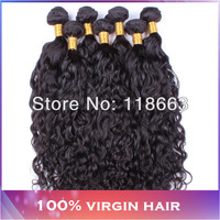 6A brazilian wet and wavy virgin hair 4pcs lot,ship free unprocessed brazilian water wave curly hair brazilian virgin hair