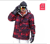 Dropshipping Fashion 2014 new high quality Men Skiing Suit Cold-proof -40C and Waterproof Hooded SKI Jackets snowboard jacket