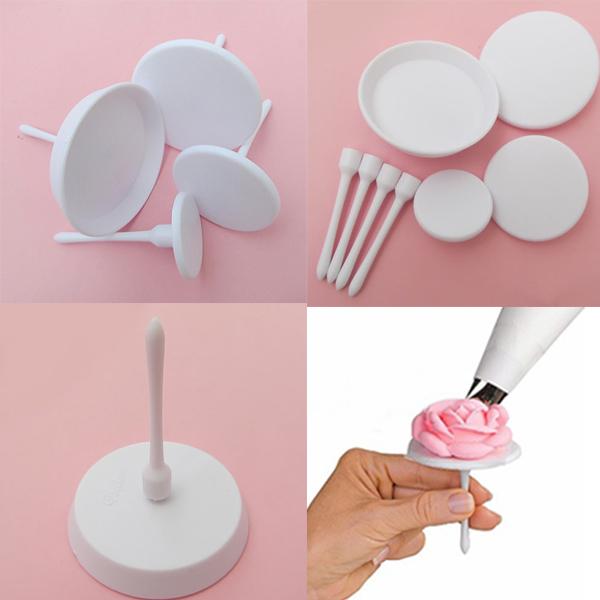 1Set/4PCS Kitchen Sugarcraft Tool Cake Cupcake Icing Cream Flower Stand Nails Decor Set(China (Mainland))