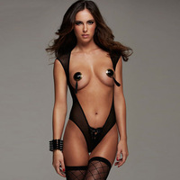 Black Romantic Moment Open Front and Back Teddy Sexy Jumpsuits Free Size