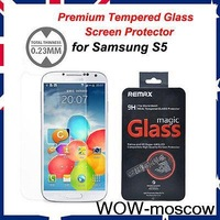 S5 Premium Tempered Glass Film Cover Screen Protector for Samsung Galaxy S5 NEW