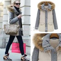 Fashion Women's Winter Jacket Fur Collar Hooded Thicken Cotton Coat Outwear S-XL