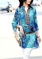 Free shipping!summer dress 2014 fashion show thin folk embroidery cotton dress women YXJ017