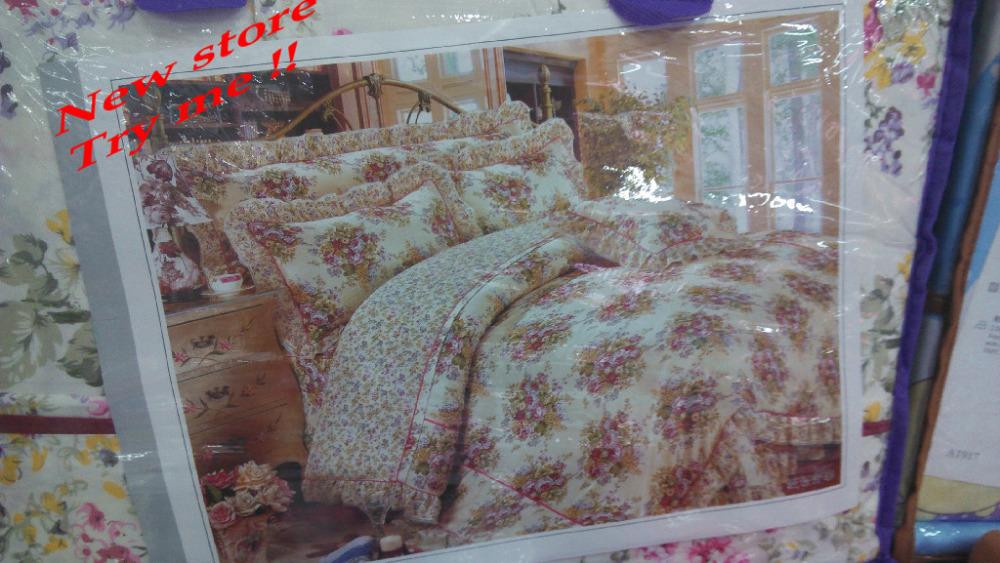 Jogo de cama de algodão congelado roupas de cama folha completa rainha rei Quilt / edredon berço roupa de cama de algodão lençóis de cobertura(China (Mainland))