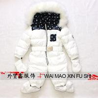 3 colors winter new born baby warm down romper fur collar outdoor jacket coat brand clothes