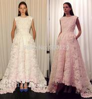 vestido de casamento 2014 Jewel Neck Sleeveless A-Line Long Custom Made Vintage Lace Wedding Dress 2015