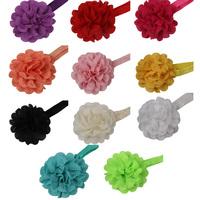 11 Colors Toddler Baby Kids Girls Chiffon Children Flower Elastic Headband Hairband Decor Drop Shipping BB-094