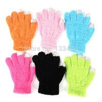 Free ShippingWomen Knitted Mitten Wrist Fingerless Lady Winter Warmer Touch Screen Gloves