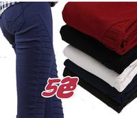 Hot Sale  Brand autumn winter Casual Women Pants  fleece Elastic Waist Stripe Full Length Plus velvet  Plus size S-XXL
