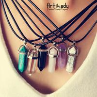 Artilady multi color quartz necklaces Pendant Necklace women jewelry accessories chain with crystal agate necklace