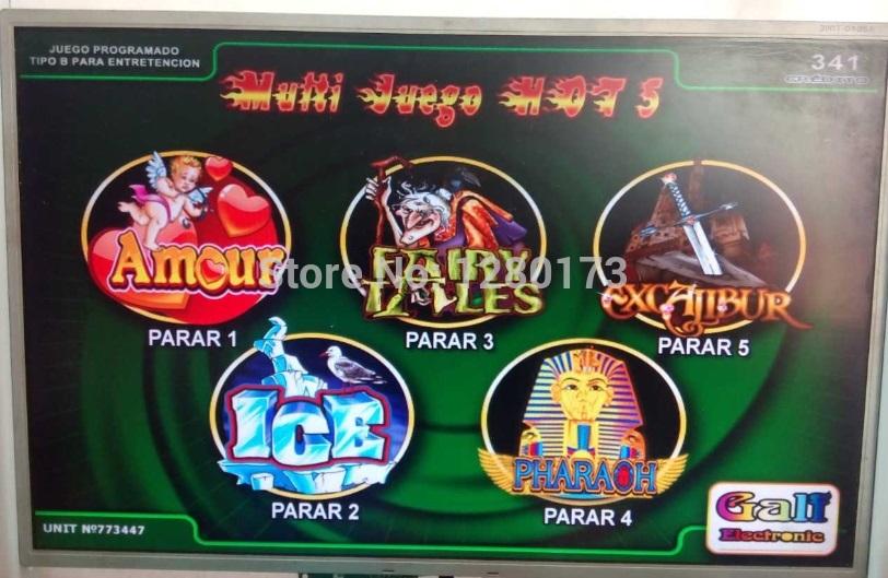 Multi Juego Hot 5, Hot 5 in 1, casino PCB, multi game pcb, slot board, gambling pcb, casino board,(China (Mainland))