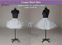 WP-021 3 Layer Short Bridal Wedding Train Petticoat Underskirt Free Shipping
