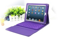 New Holder Stand Leather Case Cover With Wireless Bluetooth 3.0 Silicone Keyboard for Apple iPad 2 3 4