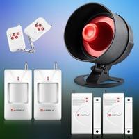 Cheapest ! Wireless KERUI Home Alarm System Security Alarm System Kit Easiest Control PIR Sensor Door Sensor