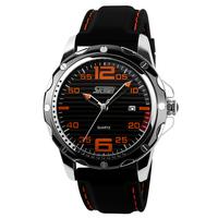 Fashionable business casual classic retro leather belt male table calendar pointer waterproof watches men's quartz watch