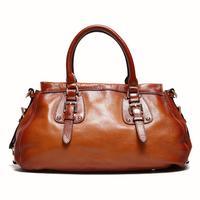 Elegant Women's handbag 100% Genuine Leather bag for women Vintage High quality shoulder bag