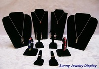 2014 Classical Black Elegant Jewlery Display Silver Jewelry Stands Set For Christmas Day Free shipping