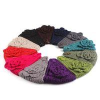 WIIPU Lady Women Fashion Camellia Warm Soft Wool Crochet Headband Knit Wide Hair Band