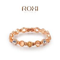 ROXI fashion jewelry gem bracelets best friend gift 18k gold plated ladies bangle bracelets for women personalized bracelets