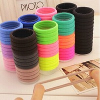 24 Pcs/lot Candy Color Barrel Packing Hair ties Elastic Hair holder for Women Hair Accessories
