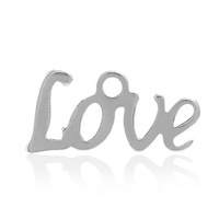 """Fashionable DIY Making 3x20PCs  """"LOVE"""" Letter Charm Pendants Stainless Steel Silver Tone 12mm x6mm"""