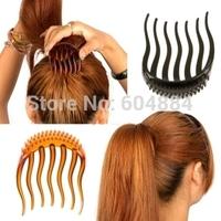 2014 Fashion New 5Pcs Magic Hair Styling Tool Hair Braiders Bun Maker With Twist Comb Pin Free Shipping