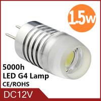 Hot sale High Power COB 1.5W 3W 12V G4 LED Lamp Replace 20W - 50W halogen lamp g4 led 12v chandelier  LED Bulb lamp Freeshipping