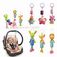 Baby Kids Plush Animal Farm Toy Stuffed Crib Pram Hanging Rattle Windbell Toy