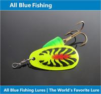 Allblue Spinner Bait 5pcs/lot Size 4# 11g Fishing Bait Bass Baits Fishing Hooks Spinner Blades Vibrax Isca Artificial