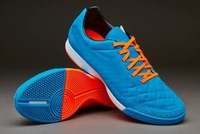 High quality soccer shoes men indoor football shoes and orange / blue football boots,size39-45
