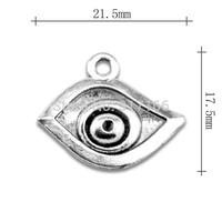 Wholesale Fashion free shipping Anti-Silver originality horus Evil Eye charms religion jew jewelry