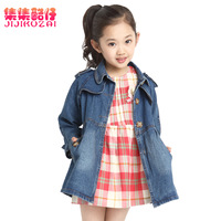 free shipping spring and autumn children clothings baby girls denim jackets and coats kids outwear