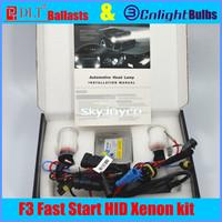 1set fast bright hid kit=2X DLT fast hid ballasts+2X Cnlight hid bulbs fast start hid xenon kit H1 H3 H7 H8 H11 9005/6 880/H27