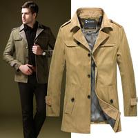 2014 Mens Jacket free shipping men coat waterproof brand new winter jacket men trench large size 3XL Coat Slim Fall Outerwear