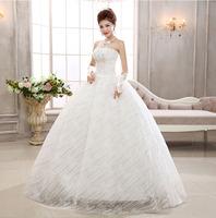 2014 New Arrival Off The Shoulder Wedding Dress Crystal Lace Up Vintage Dress 571