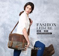 NEW Arrival!Canvas women messenger genuine leather bag,handbags,fashion women's  bag,shoulder bag,travel bags,free shipping!